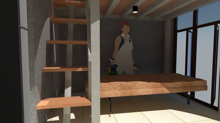 Loft bed :   by Tatami design