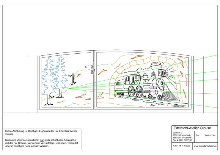 Planung 1:   von Edelstahl Atelier Crouse - individuelle Gartentore