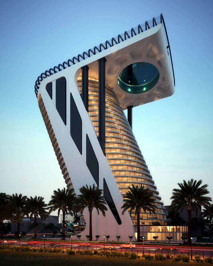 Z Tower in Dubai – Architectural design:  Hotels by S3DA Design