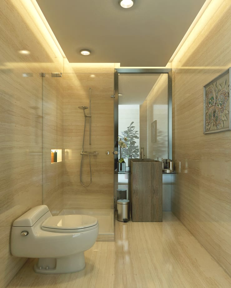 Bathroom :   by iaplus studio