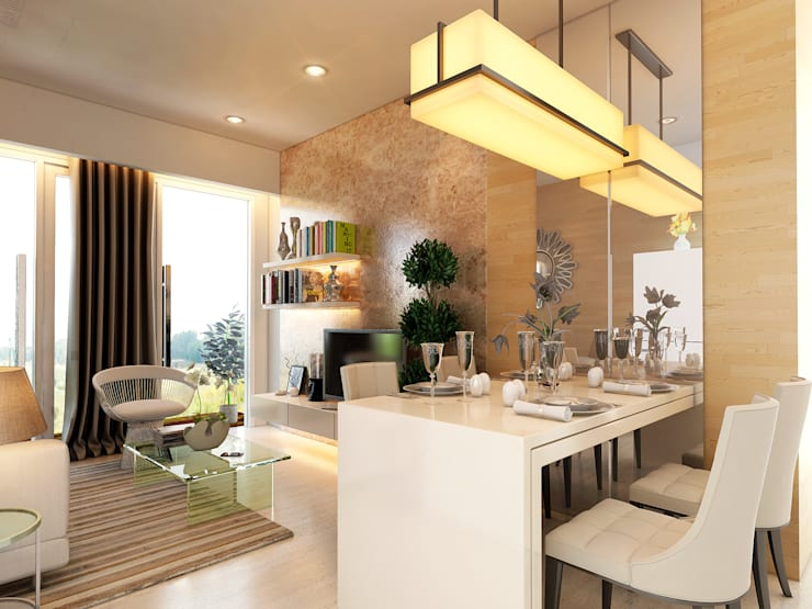 Living and Dining room:   by iaplus studio