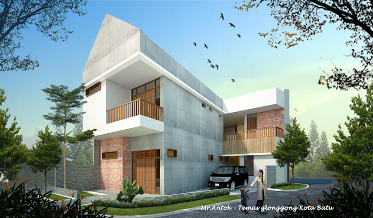 AT HOUSE:  Rumah by midun and partners architect