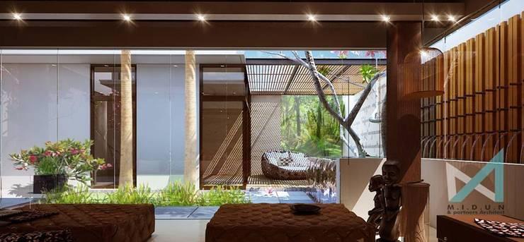 art bsd house:  Ruang Keluarga by midun and partners architect