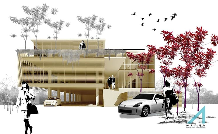 MAKASAR OFFICE:  Kantor & toko by midun and partners architect