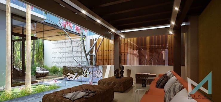BSD HOUSE:  Living room by midun and partners architect