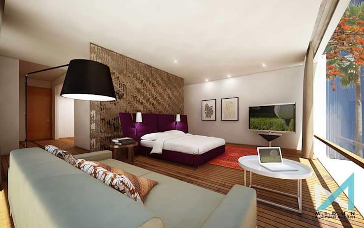 BSD HOUSE:  Bedroom by midun and partners architect