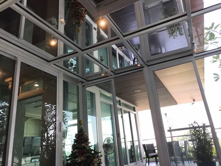 ห้องและหลังคากระจก วัสดุคุณภาพดี:   by ภูมิศิริ เกลซ เทค