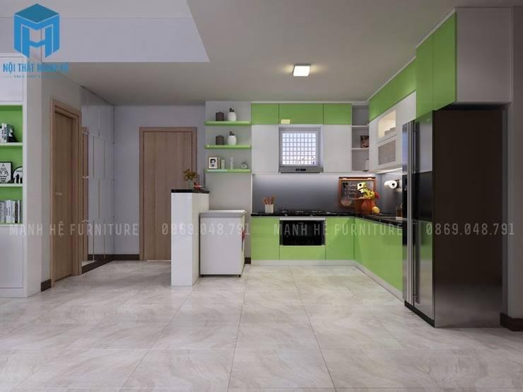 phòng bếp:  Tủ bếp by Công ty TNHH Nội Thất Mạnh Hệ