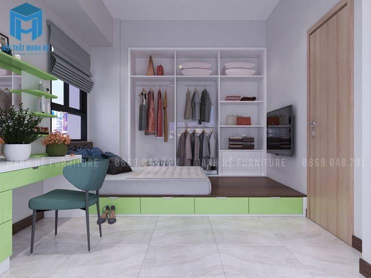 phòng ngủ:  Phòng ngủ nhỏ by Công ty TNHH Nội Thất Mạnh Hệ