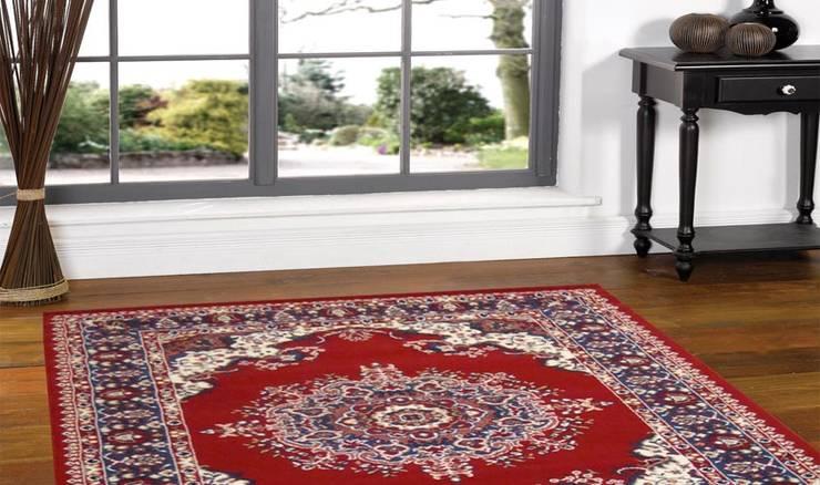 Tappeto PERSIAN-4480-RED: Ingresso, Corridoio & Scale in stile  di Webtappeti