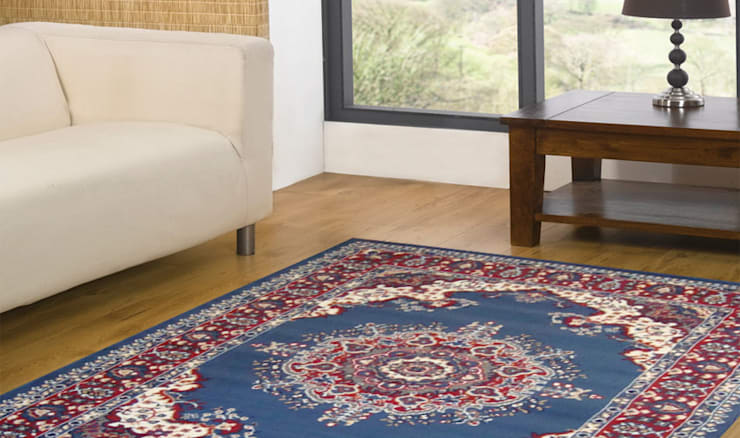 Tappeto PERSIAN-4480-LIGHT-BLUE: Casa in stile  di Webtappeti