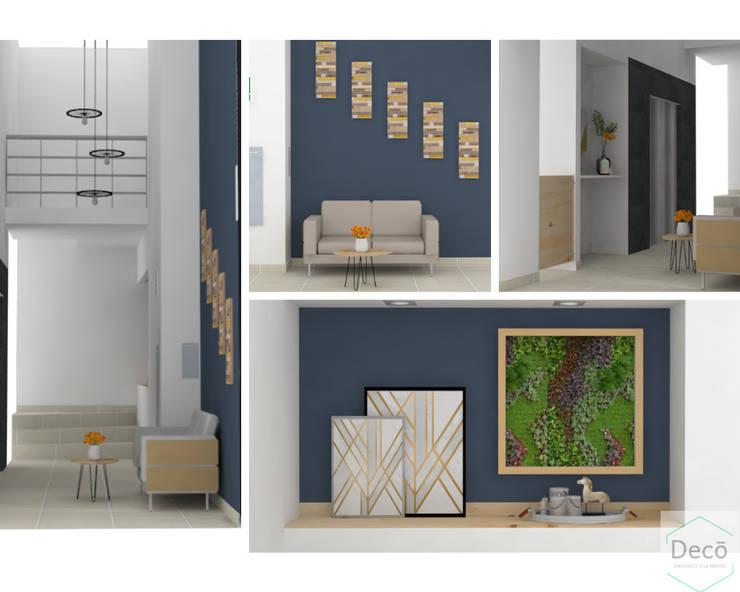 Propuesta diseño Lobby Torre La Vega: Edificios de oficinas de estilo  por Decó ambientes a la medida