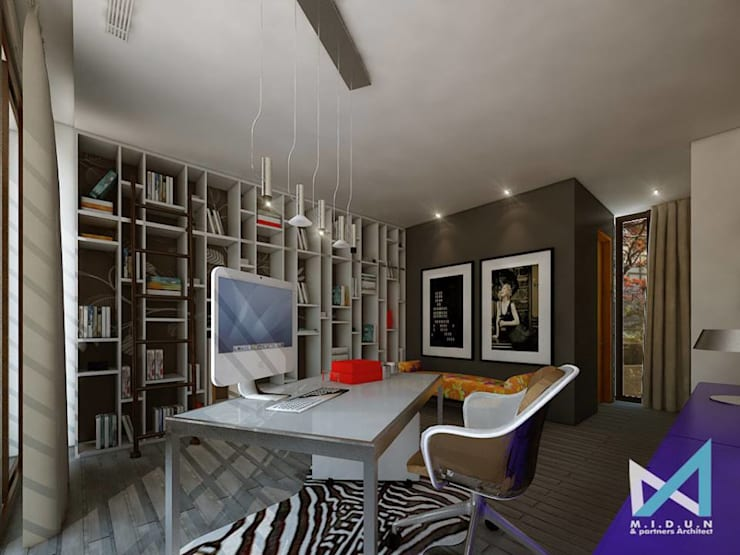 PLATINUM HOUSE:  Ruang Kerja by midun and partners architect