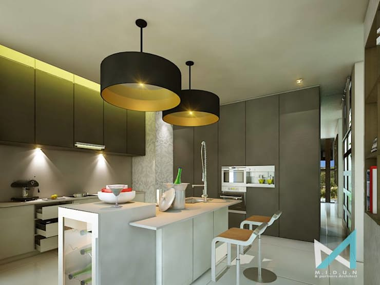 PLATINUM HOUSE:  Dapur by midun and partners architect