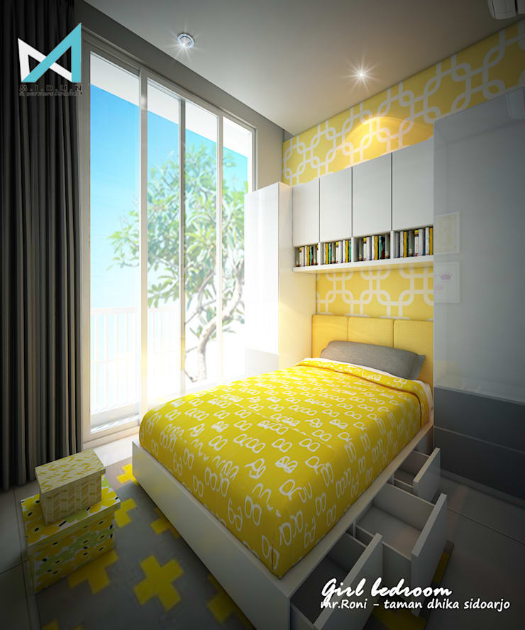 RN HOUSE:  Kamar Bayi & Anak by midun and partners architect