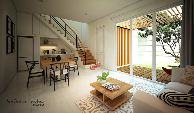 CH HOUSE:  Ruang Keluarga by midun and partners architect