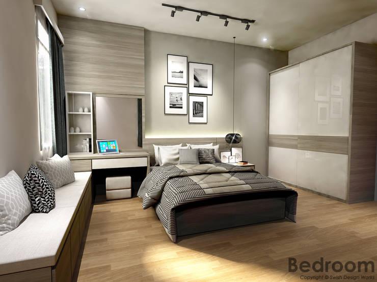 Jalan Pacheli:  Small bedroom by Swish Design Works