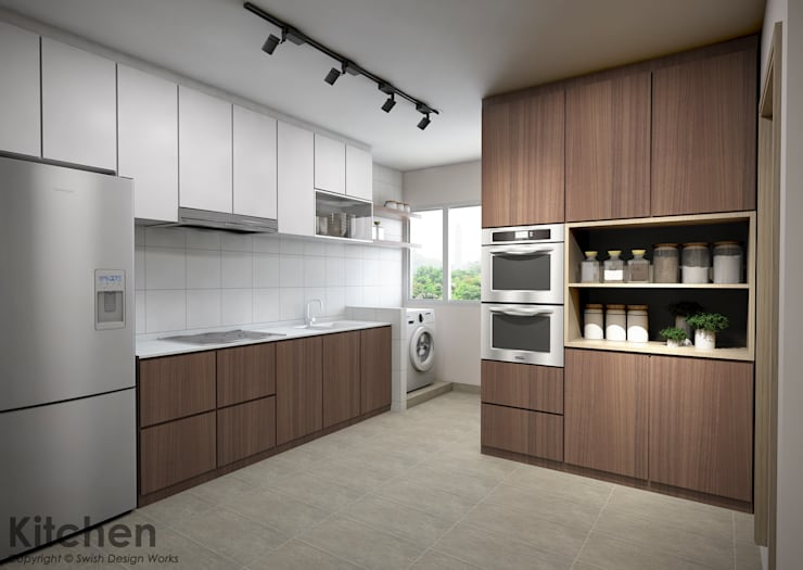 Bedok South Ave 2:  Built-in kitchens by Swish Design Works