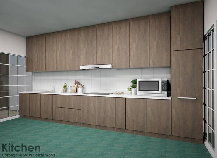 Jalan Isnin:  Built-in kitchens by Swish Design Works,Modern Plywood