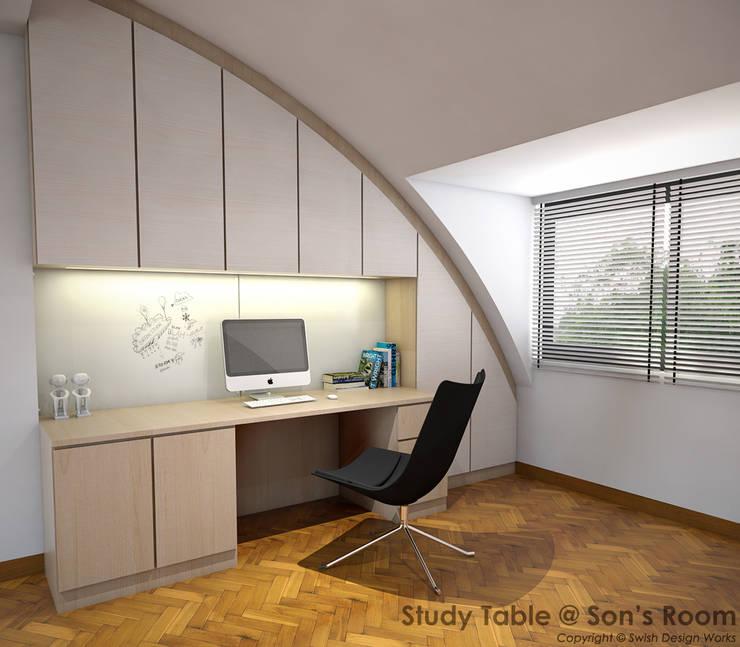 Jalan Minggu:  Small bedroom by Swish Design Works,Minimalist