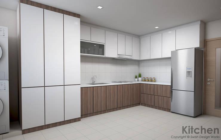 Serangoon Central:  Kitchen by Swish Design Works