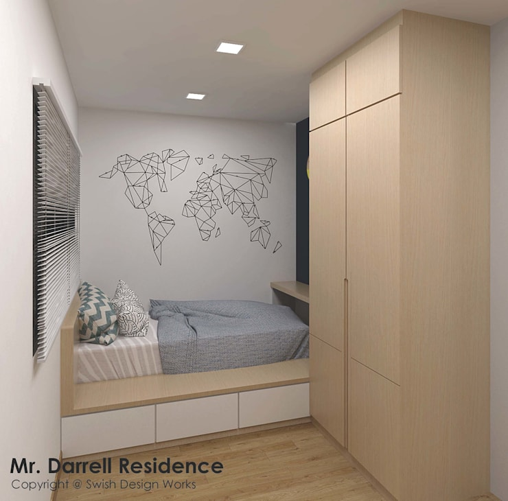 Buangkok Crescent:  Bedroom by Swish Design Works