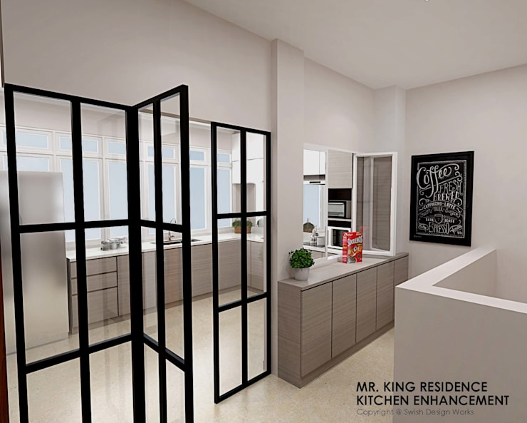 Yio Chu Kang Rd :  Built-in kitchens by Swish Design Works