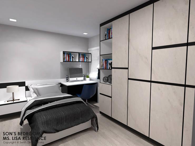 Ang Mo Kio Ave 3:  Small bedroom by Swish Design Works