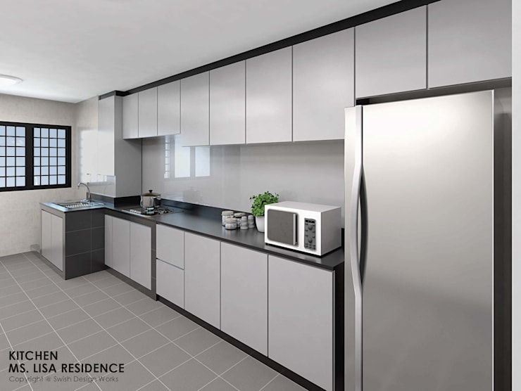 Ang Mo Kio Ave 3:  Built-in kitchens by Swish Design Works,Classic