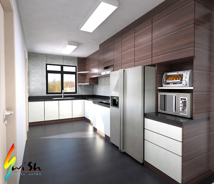 Balam Road:  Built-in kitchens by Swish Design Works