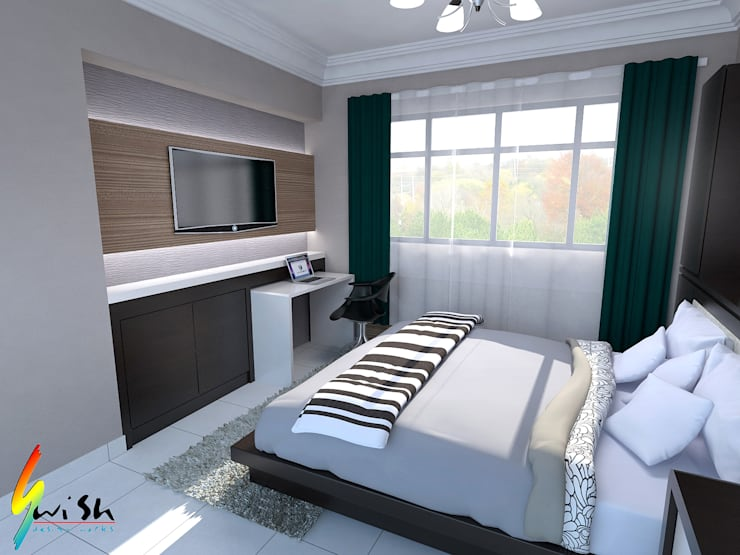 Balam Road:  Small bedroom by Swish Design Works