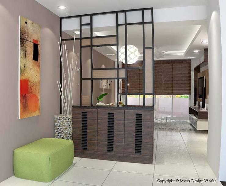 Yishun Ring Road:  Corridor, hallway by Swish Design Works