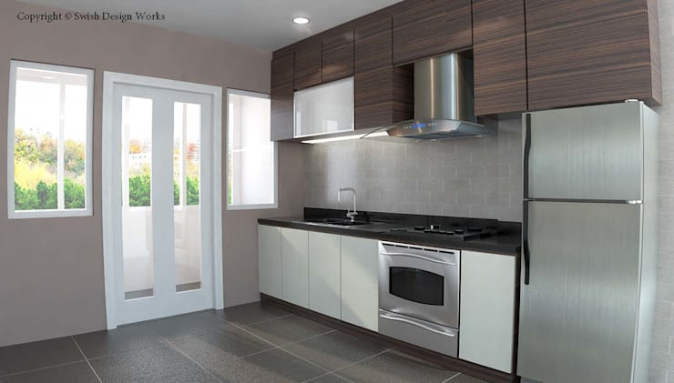 Yishun Ring Road:  Built-in kitchens by Swish Design Works