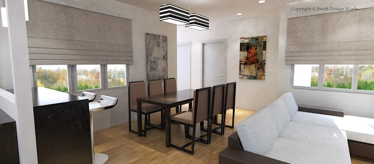 Typical HDB flat:  Dining room by Swish Design Works