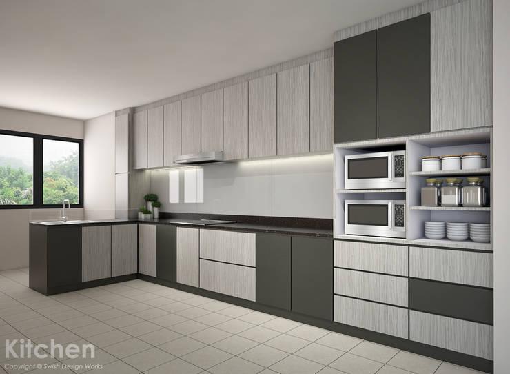 Compassvale Lane:  Built-in kitchens by Swish Design Works