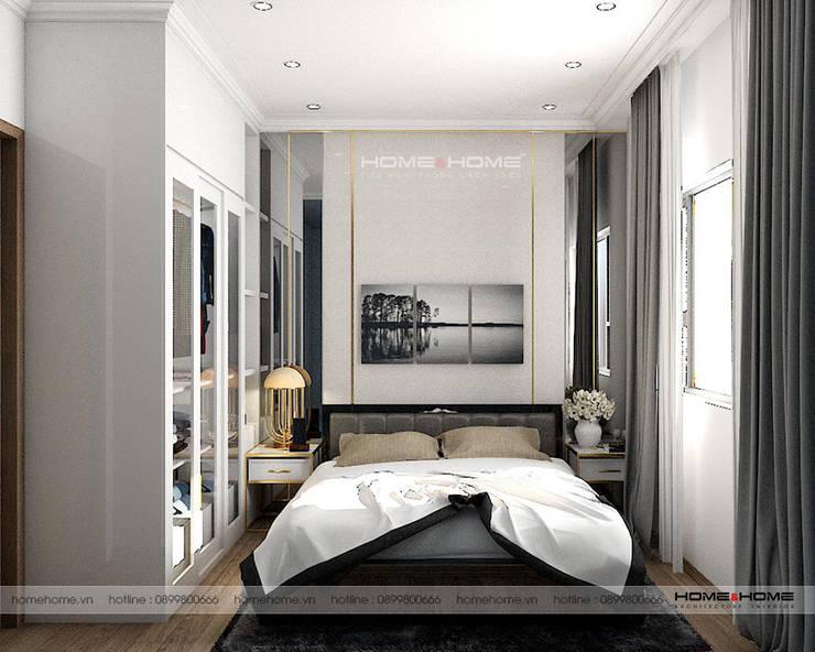 Thiết kế thi công nội thất chung cư Vinhome D'Capitable Trần Duy Hưng:  Bedroom by Công ty cổ phần kiến trúc nội thất Home&Home
