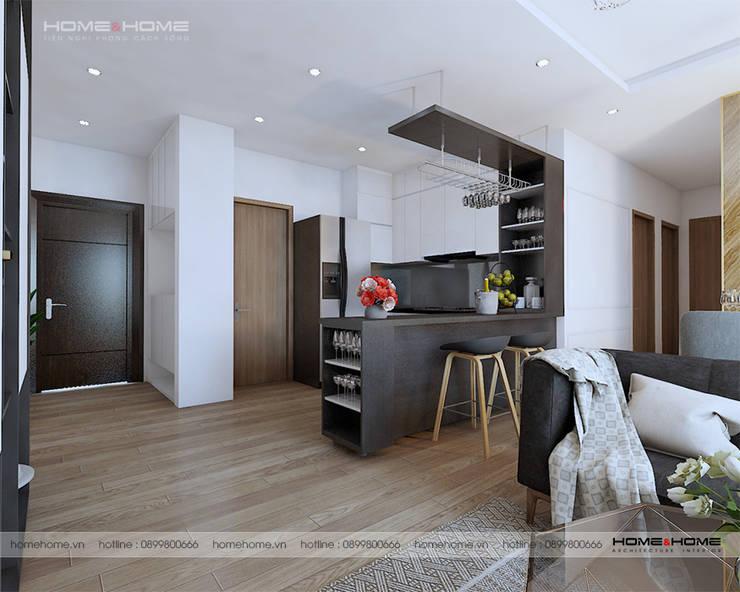 Thiết kế thi công nội thất chung cư Vinhome D'Capitable Trần Duy Hưng:  Kitchen by Công ty cổ phần kiến trúc nội thất Home&Home