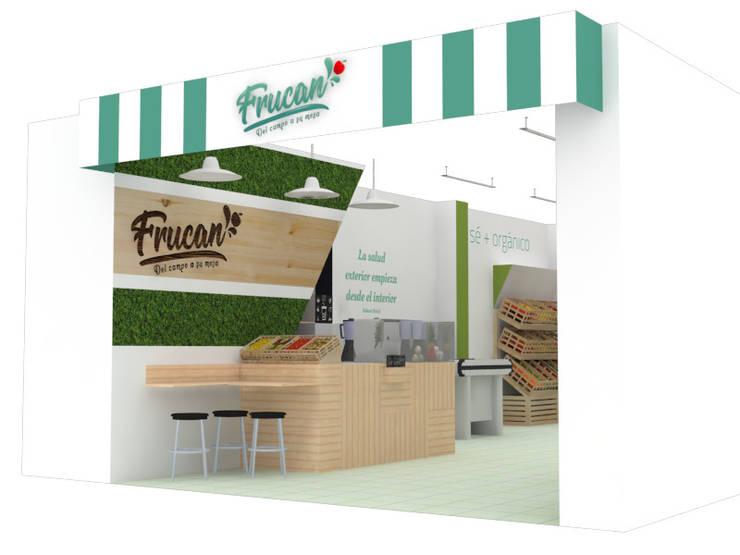 FRUCAN: Espacios comerciales de estilo  por Decó ambientes a la medida