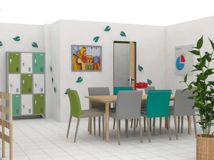 Sala de juntas FRUCAN: Oficinas y Tiendas de estilo  por Decó ambientes a la medida