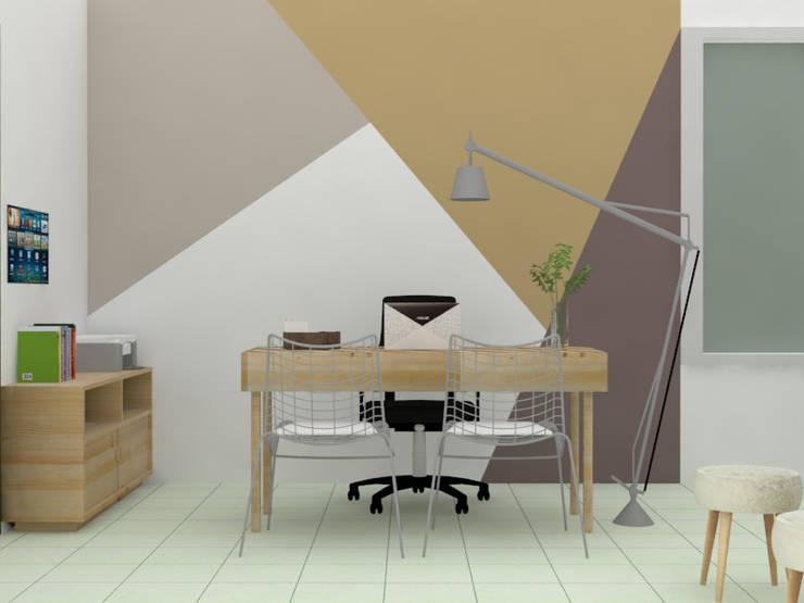 Oficina FRUCAN: Estudios y despachos de estilo  por Decó ambientes a la medida,