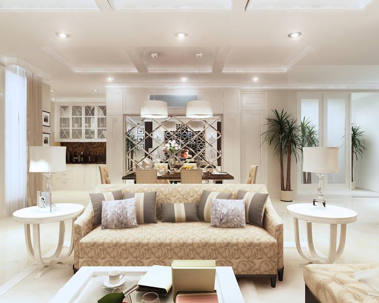 LIVING ROOM:  Ruang Keluarga by Mitrasasana - Design & Build