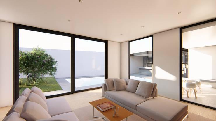 LIVINGROOM: Salas de estilo  por GRUPO VOLTA