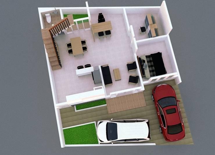 Lantai 1:   by [e] design