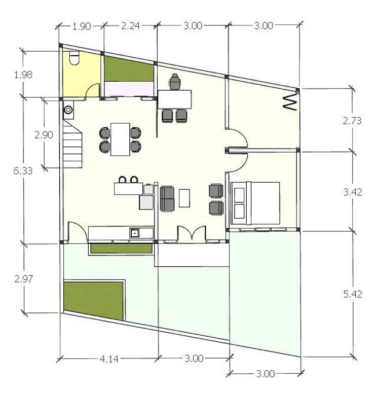 Denah lt 1:   by [e] design