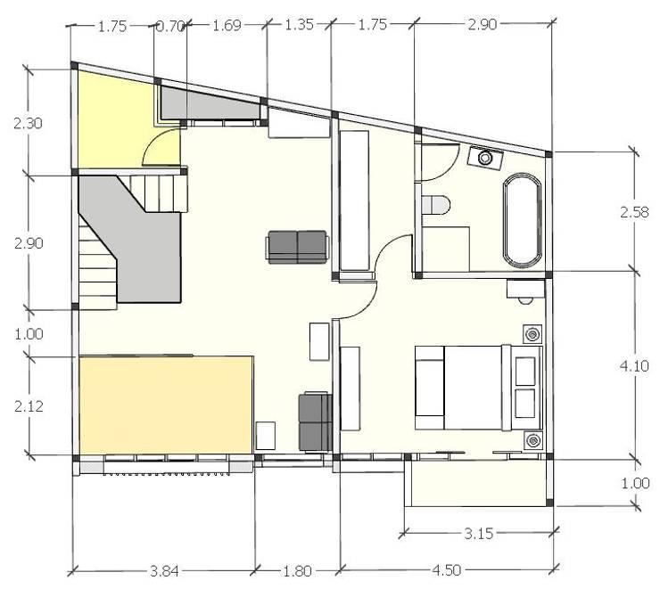 Denah lt 2:   by [e] design