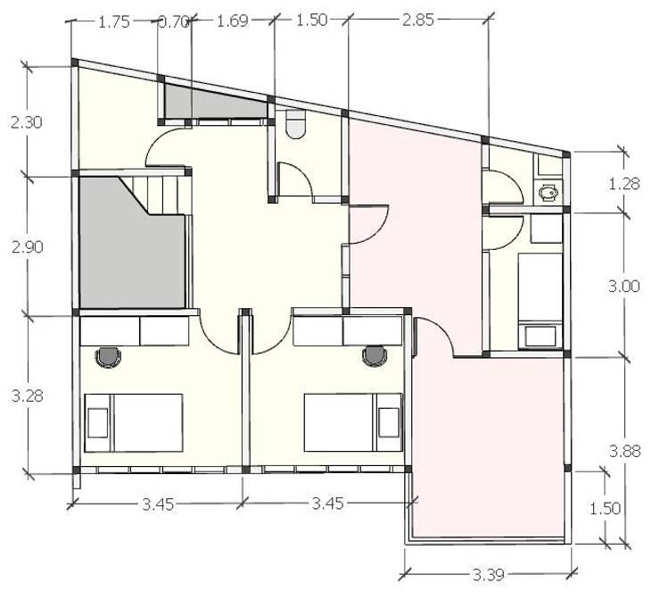 Denah lt 3:   by [e] design