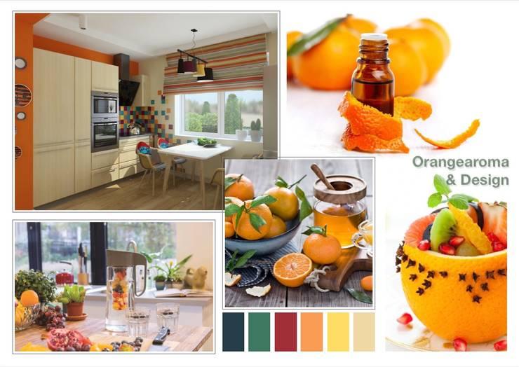 Orangenaroma-Design:  Küche von NK-Line