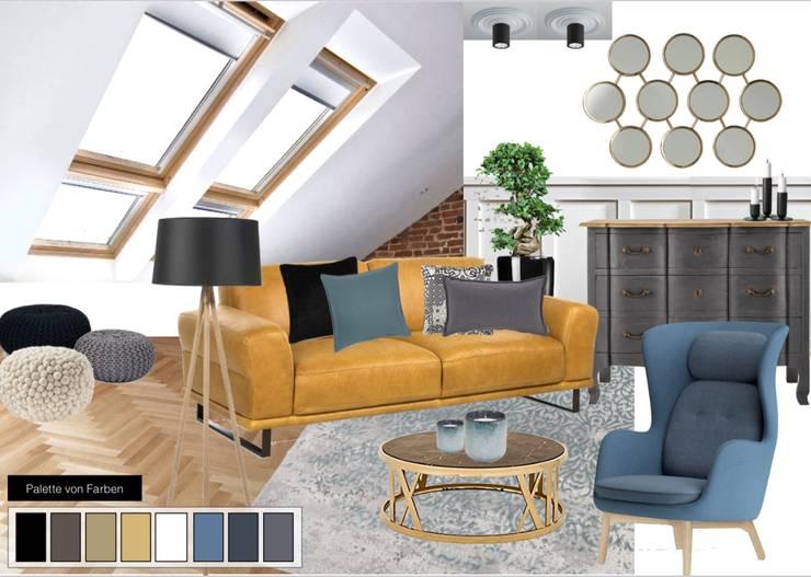 Wohnzimmer:  Wohnzimmer von NK-Line ,Skandinavisch