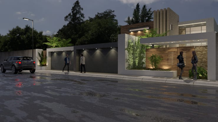 Residencia del Cantil de URBAO Arquitectos Moderno Concreto