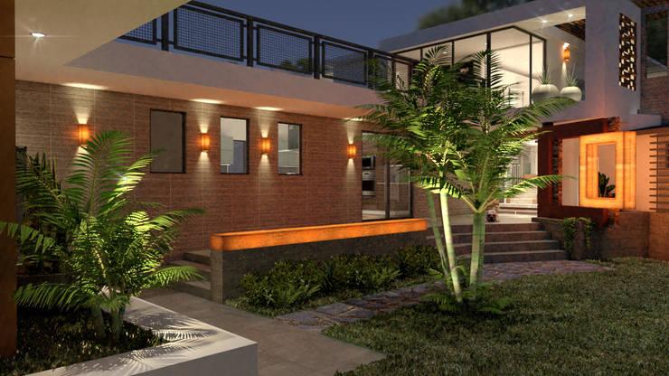 Single family home by URBAO Arquitectos, Modern Concrete